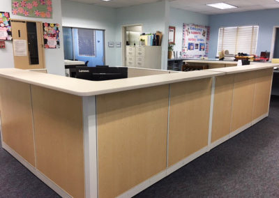School reception desks