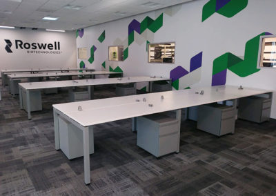 Workstations installed in open office